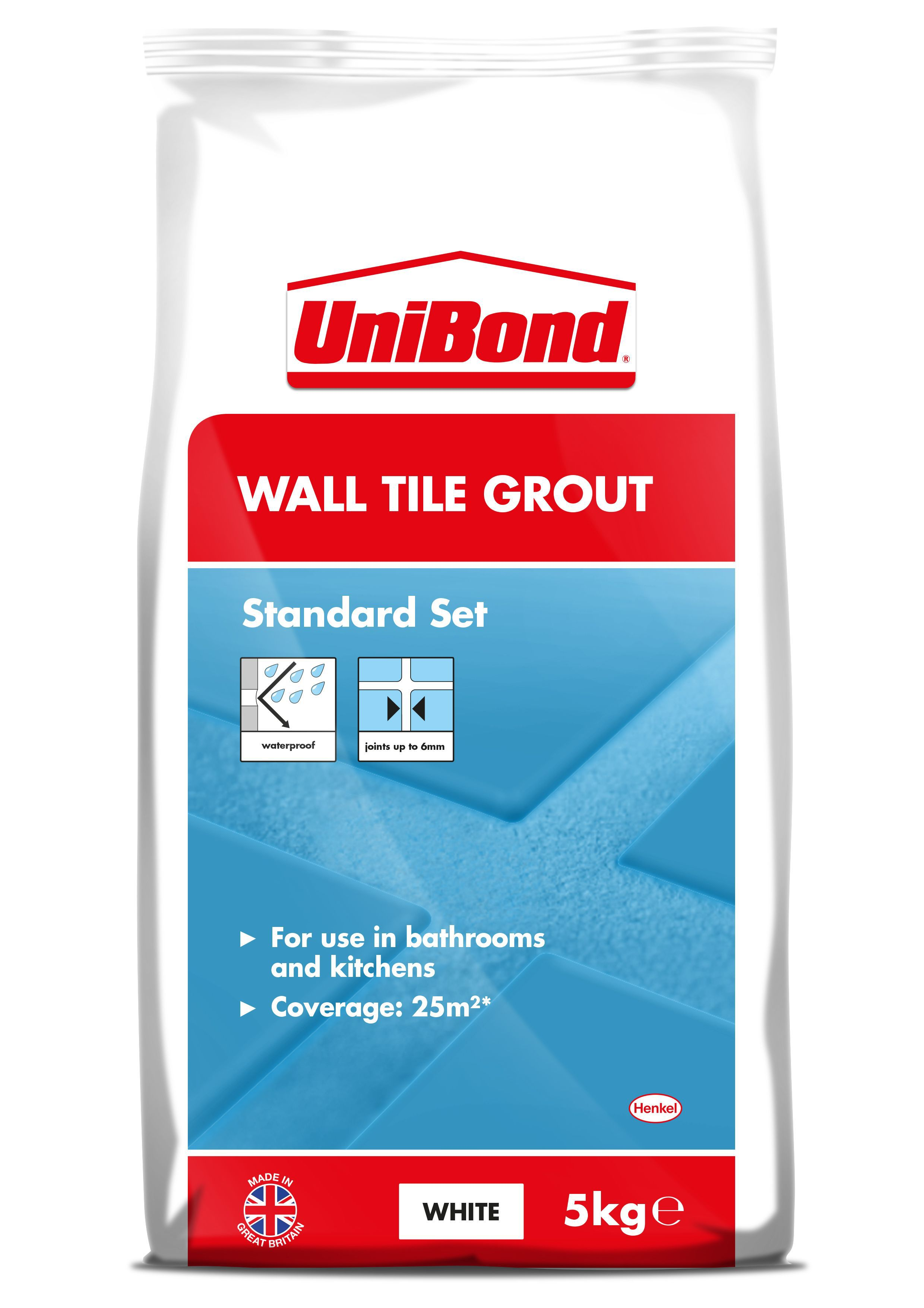 Diy at bq unibond white wall tile grout w5kg dailygadgetfo Images