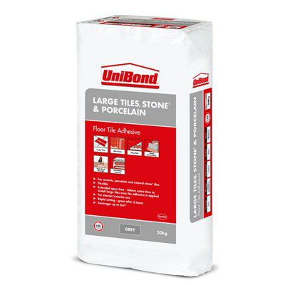 Unibond Large Tiles Powder Wall & Floor Tile Adhesive, Grey