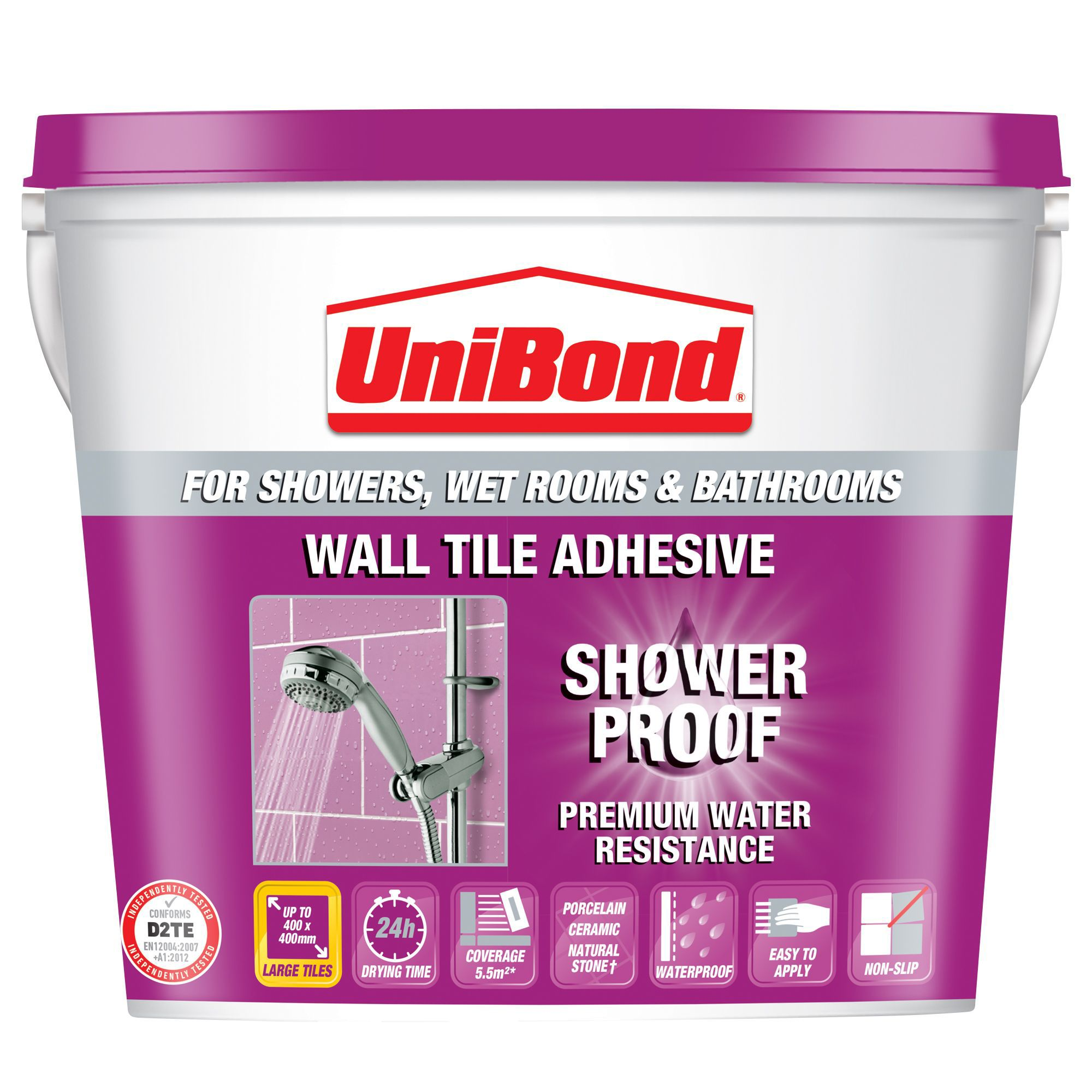Diy at bq unibond showerproof ready to use wall tile adhesive beige 10l dailygadgetfo Gallery