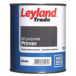 Leyland Trade White Matt Primer 750ml Tin