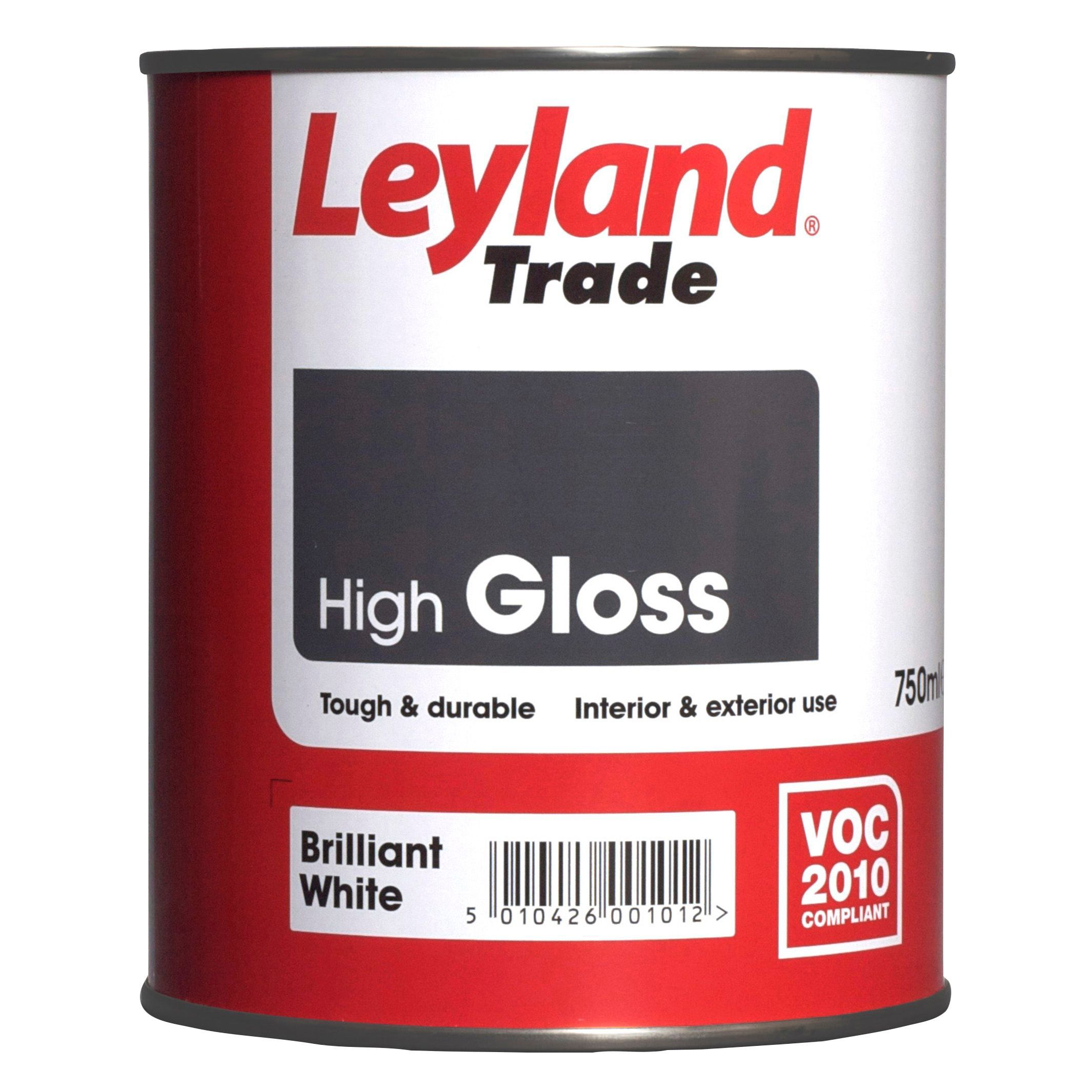 Leyland trade interior exterior brilliant white gloss wood metal paint 750ml departments - Exterior white gloss paint image ...
