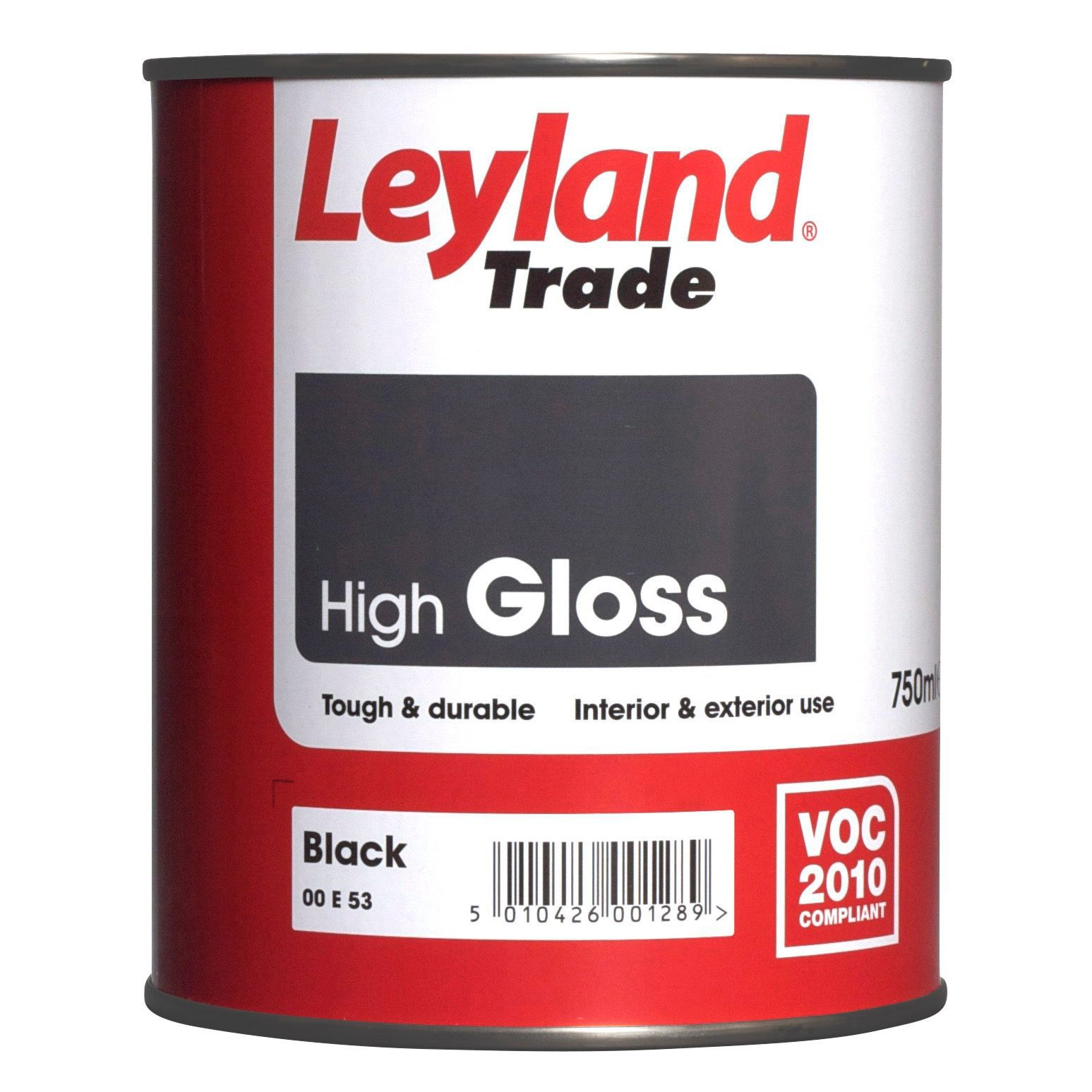 Leyland Trade Interior Exterior Black Gloss Wood Metal Paint 750ml Tin Departments Diy