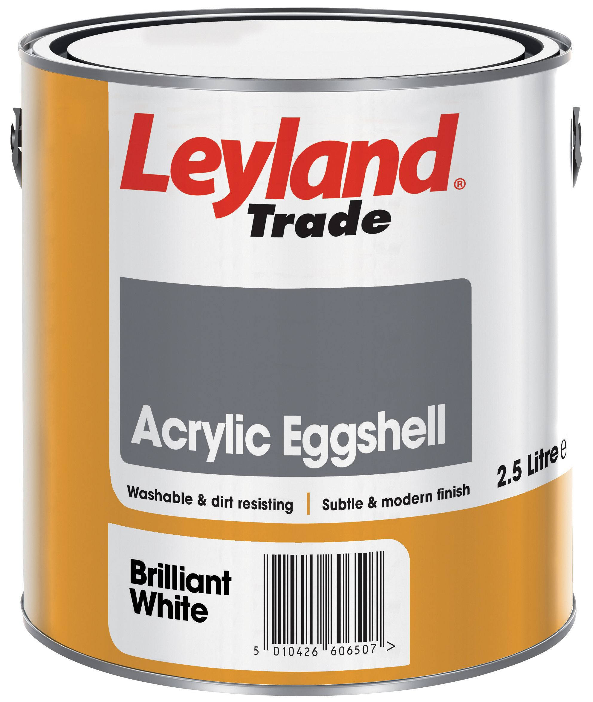 Leyland Trade Brilliant White Eggshell Emulsion Paint Departments Diy At B Q