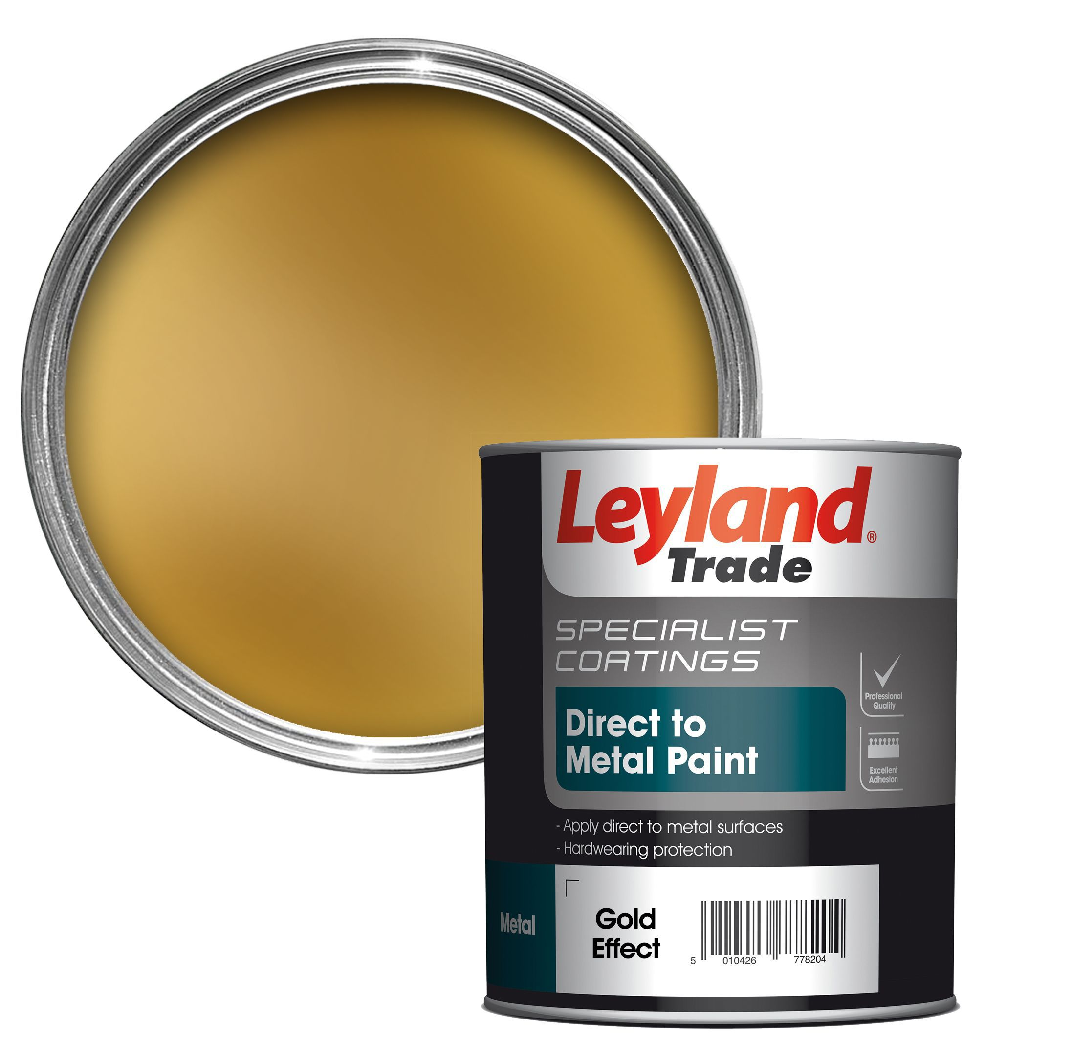 Leyland Trade Specialist Gold Effect Semi-gloss Metal Paint 750 Ml