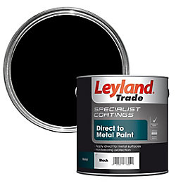 Leyland Trade Specialist Black Semi Gloss Metal Paint