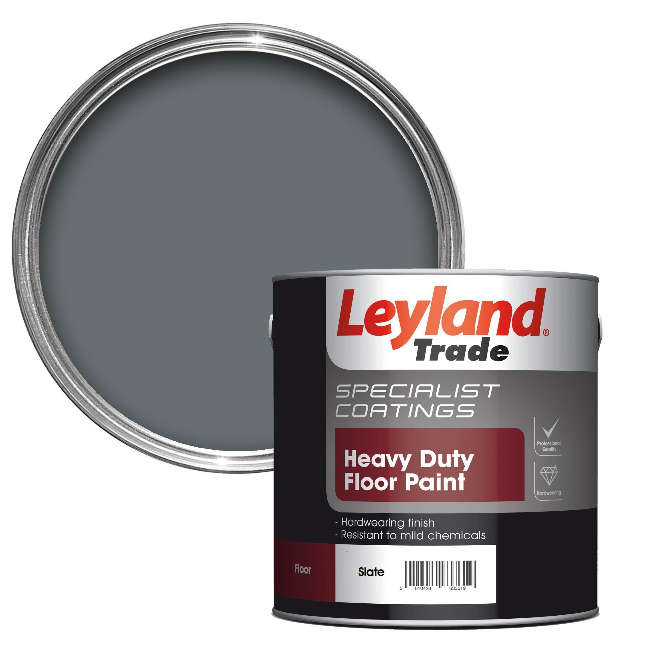 Leyland Trade Heavy Duty Slate Satin Floor Amp Tile Paint2