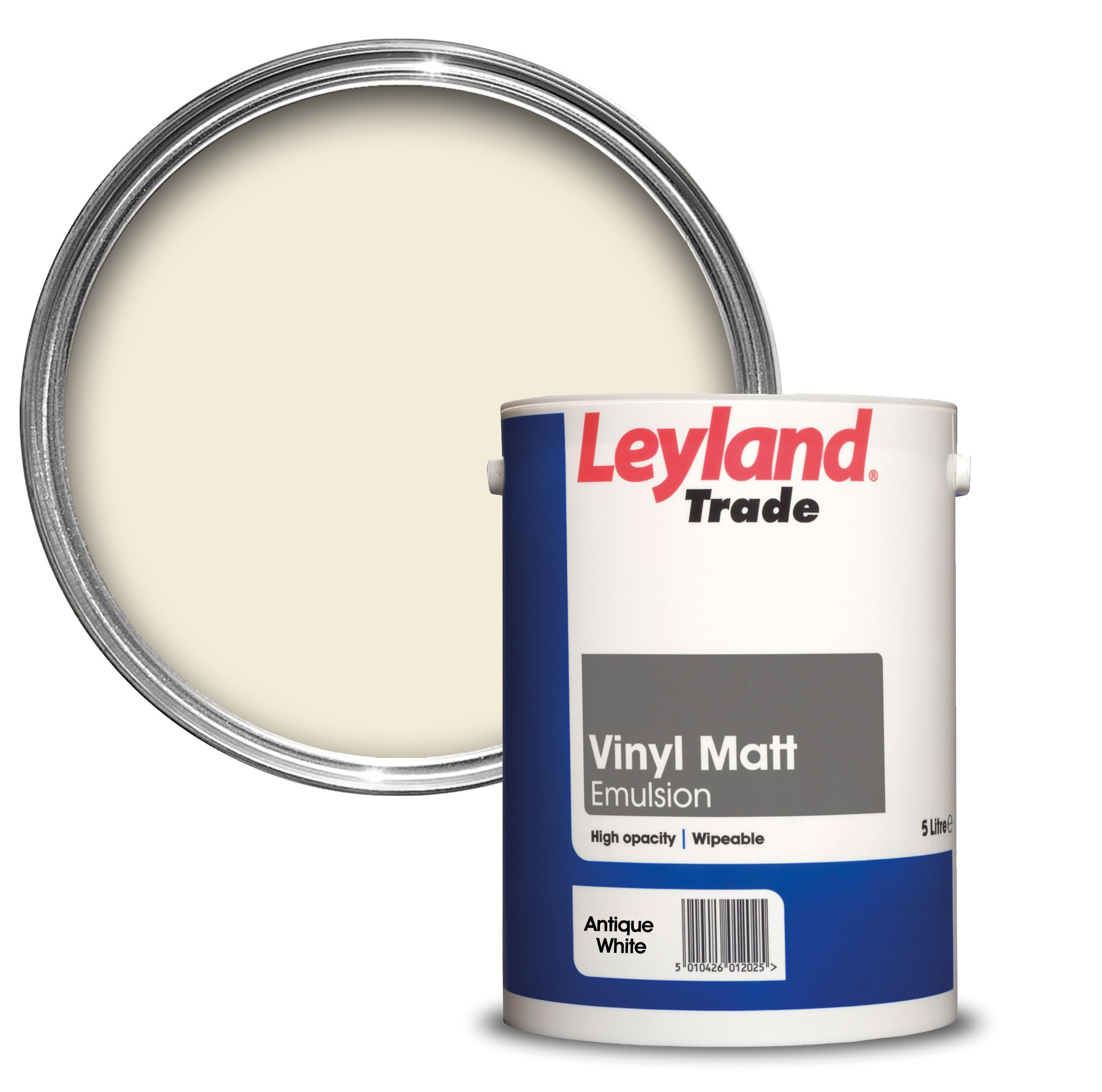 White Kitchen Emulsion leyland trade antique white smooth matt emulsion paint 5l