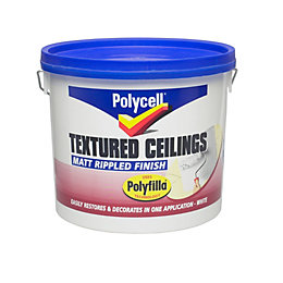 Polycell Polyripple White Matt Emulsion Paint 5L