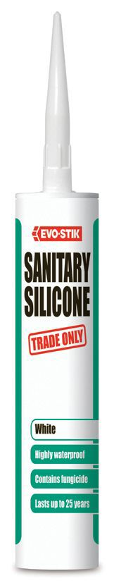 Evo-stik Ready To Use Sanitary Ware White Sealant 290 Ml
