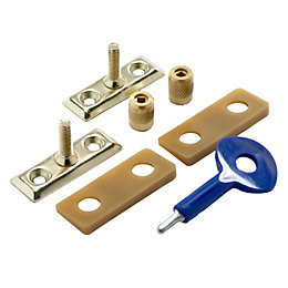 Yale Brass Window Stay Lock, Pack of 2