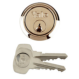 Yale Brass-Plated Rim Cylinder Lock