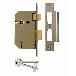 Yale 64mm Chrome Effect 3 Lever Mortice Sashlock