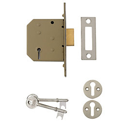 Yale 64mm Polished Chrome 3 Lever Mortice Deadlock