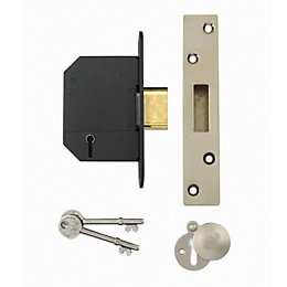 Yale 64mm Chrome Effect 5 Lever Deadlock