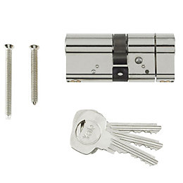 Yale 95mm Nickel-Plated Euro Cylinder Lock