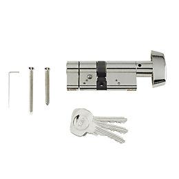 Yale 80mm Nickel-Plated Thumbturn Euro Cylinder Lock