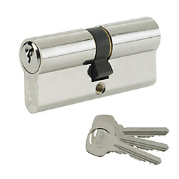 Yale 100mm Nickel-Plated Euro Cylinder Lock