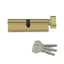 Yale 80mm Brass Plated Thumbturn Euro Cylinder Lock