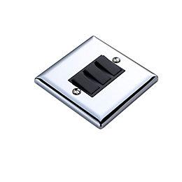 Volex 10AX 2-Way Chrome Effect Triple Light Switch