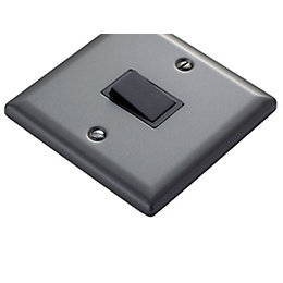Volex 10AX 2-Way Pewter Effect Single Switch