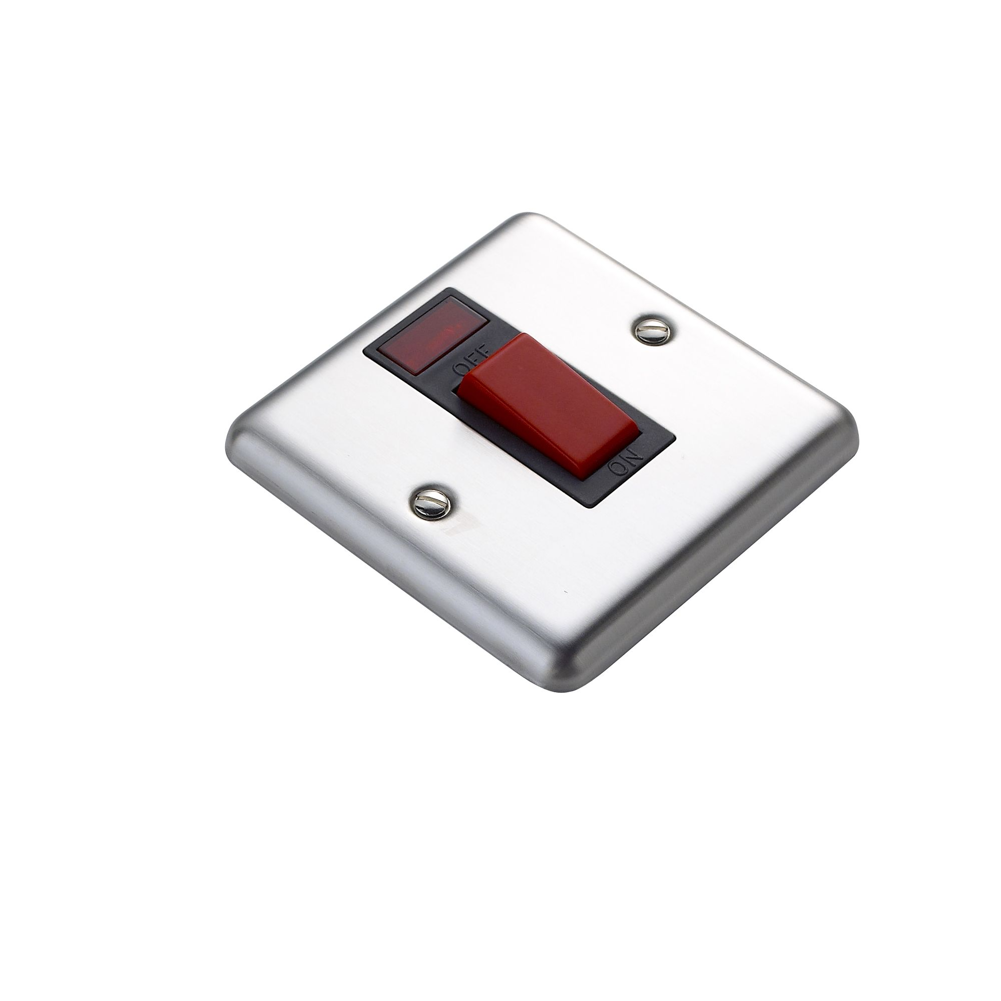 Volex 45a Double Pole Stainless Steel Effect Cooker Switch