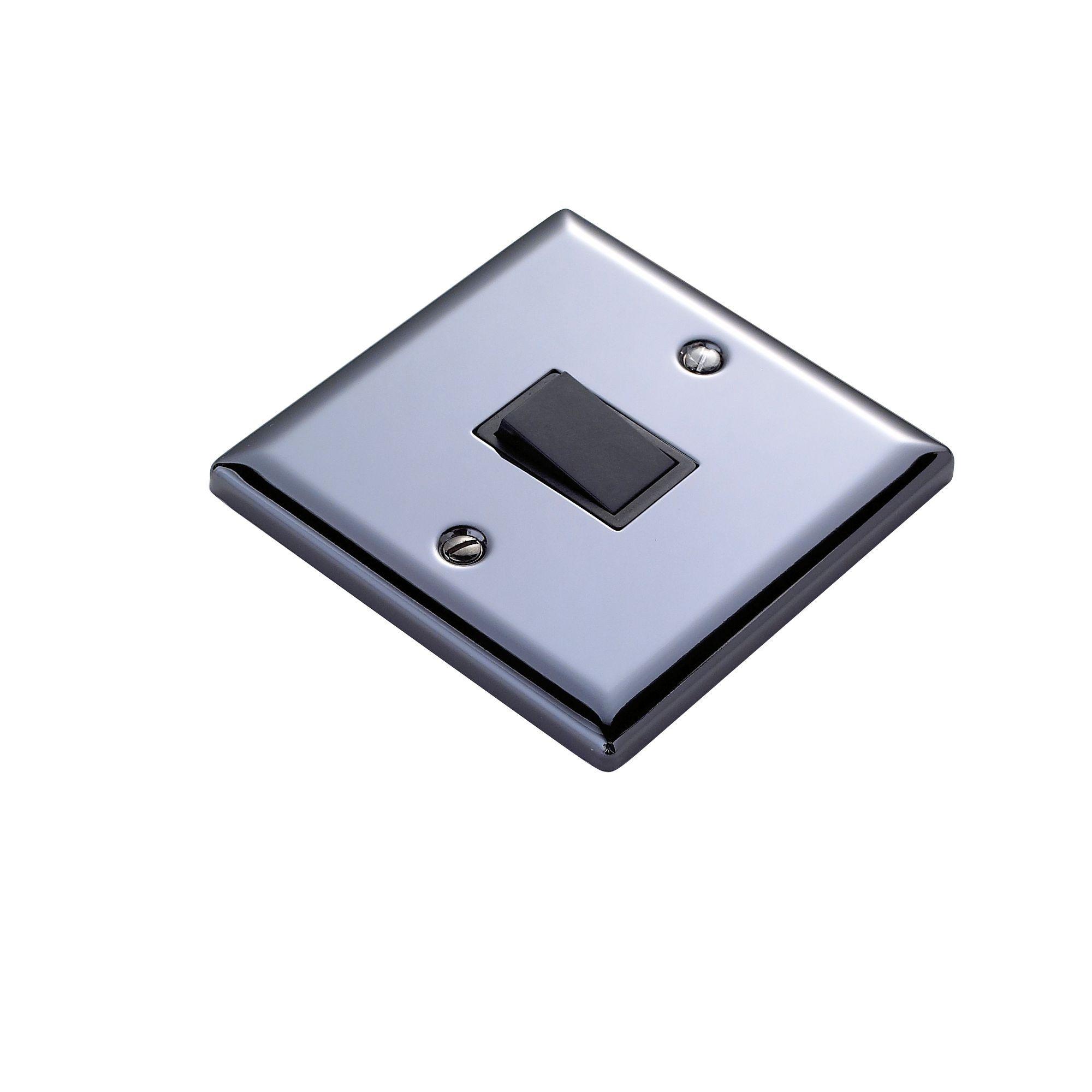 Volex 10a 2-way Single Polished Iridium Black Intermediate Switch