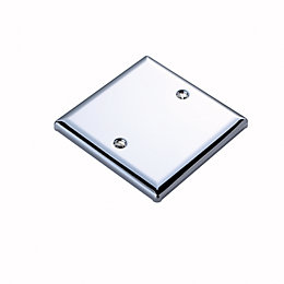 Volex 1-Gang Silver Blanking Plate