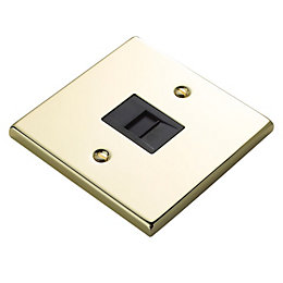 Holder 1-Gang Raised Brass Effect Telephone Socket