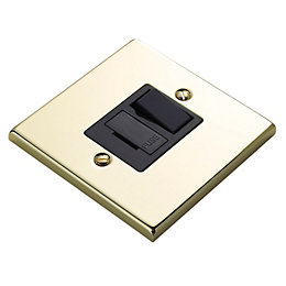 Volex 13A Polished Brass Switched Fused Connection Unit