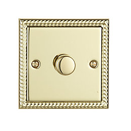 Volex 2-Way Single Brass Effect Dimmer Switch