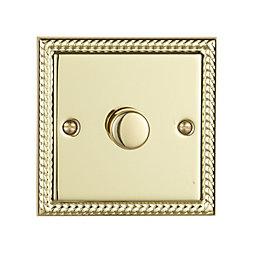 Volex 2-Way Single Brass Effect Dimmer Switch