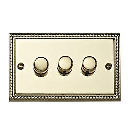 Volex 2-Way Brass Effect Dimmer Switch