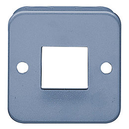 Volex 10AX 2-Way Grey Metal Clad Double Switch