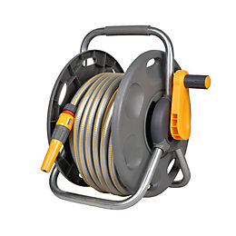 Hozelock 2 In 1 Freestanding Hose Reel &