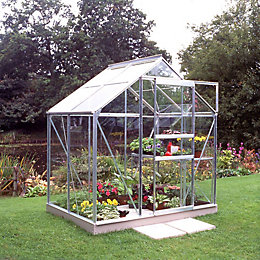 B&Q 6X4 Horticultural Glass Greenhouse