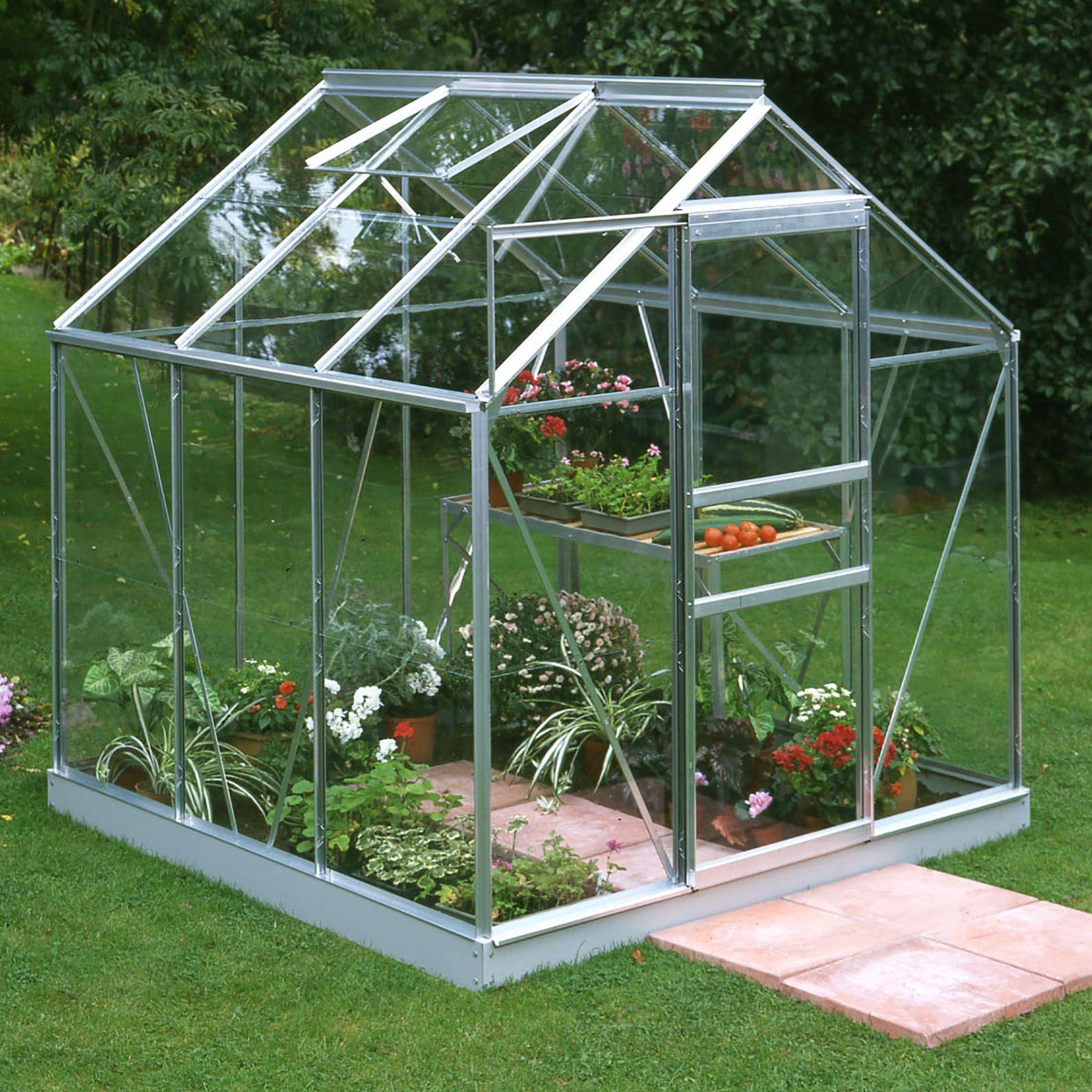 B Amp Q Metal 6x6 Horticultural Glass Greenhouse Departments