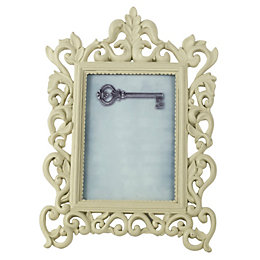 Cream Resin Picture Frame (H)24cm x (W)34cm