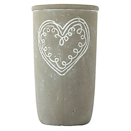 Grey Concrete Vase, Large