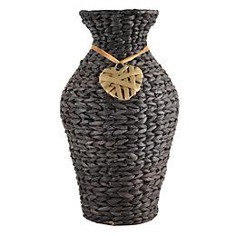 Brown Wicker Vase, Medium