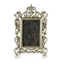 Silver Effect Resin Picture Frame (H)34cm x (W)24cm