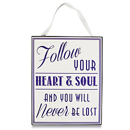 Follow Your Heart & Soul Purple & White