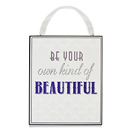 Be Your Own Purple & White Plaque (W)22cm