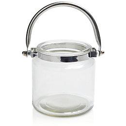 Glass & Metal Handled Jar, Medium