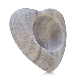 Heart Shaped Stone Tealight Candle Holder