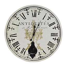 Antique Vintage Black & White Round Wall Clock