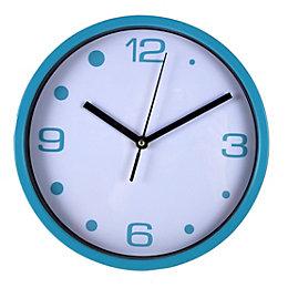 B&Q Classic Blue & White Wall Clock