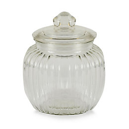 Ornate Glass Jar, Small
