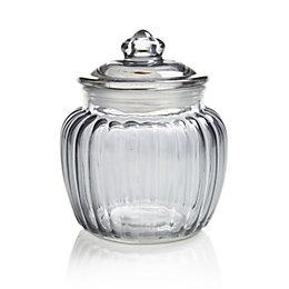 Grey Ornate Glass Jar, Small