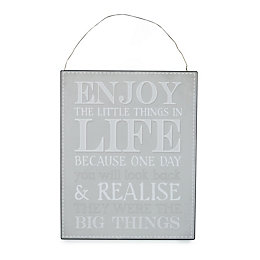 'Enjoy The Little Things In Life' Hanging Plaque