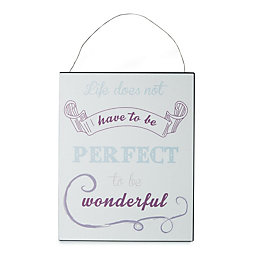 Perfect to Be Wonderful Purple Hanging Plaque (W)200mm